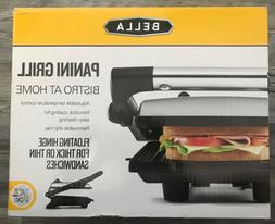 BELLA 13267 Electric Panini Maker Press and Sandwich Grill,
