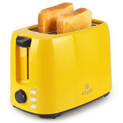 iSiLER 2 Slice Toaster, Wide Slot Toaster with 7 Shades & Re