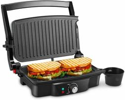 iSiLER 4 Slice Panini Press Grill Sandwich Maker Non-Stick C