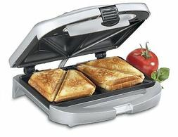 Cuisinart Electric Nonstick Dual Sandwich Maker Grill Toaste