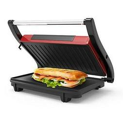 Panini Press Indoor Grill and Gourmet Sandwich Maker With No
