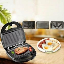 BLACK and DECKER 3 in 1 Meal Station Waffle Maker Grill Sand