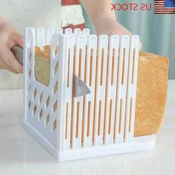 Bread Toast Loaf Slicing Mold Foldable Plastic Guide Sandwic