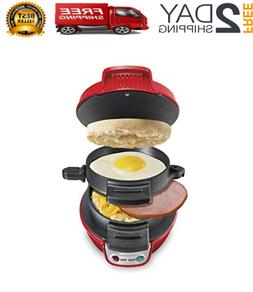 Breakfast Sandwich Maker In Just 5 Minutes Perfect, Red Sing