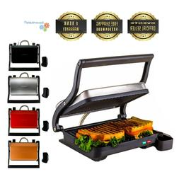 Ovente Electric Panini Kitchen Press Grill and Gourmet Sandw