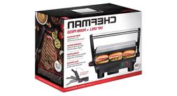 Electric Panini Press Grill and Gourmet Sandwich Maker w/ No