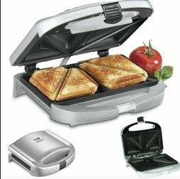 Cuisinart Electric Sandwich Grill Deep Non Stick Surface Dua