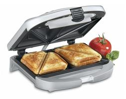 Electric Sandwich Toaster Dual Grill Non Stick Surface Toast