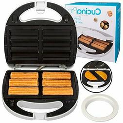 Empanada and Churro Maker Machine- Cooker w 4 Removable Plat