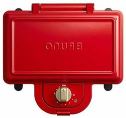 BRUNO Hot Sandwich Maker Electric Double RED for breakfast f