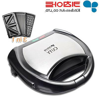 3 in 1 cuty electric griddle waffle