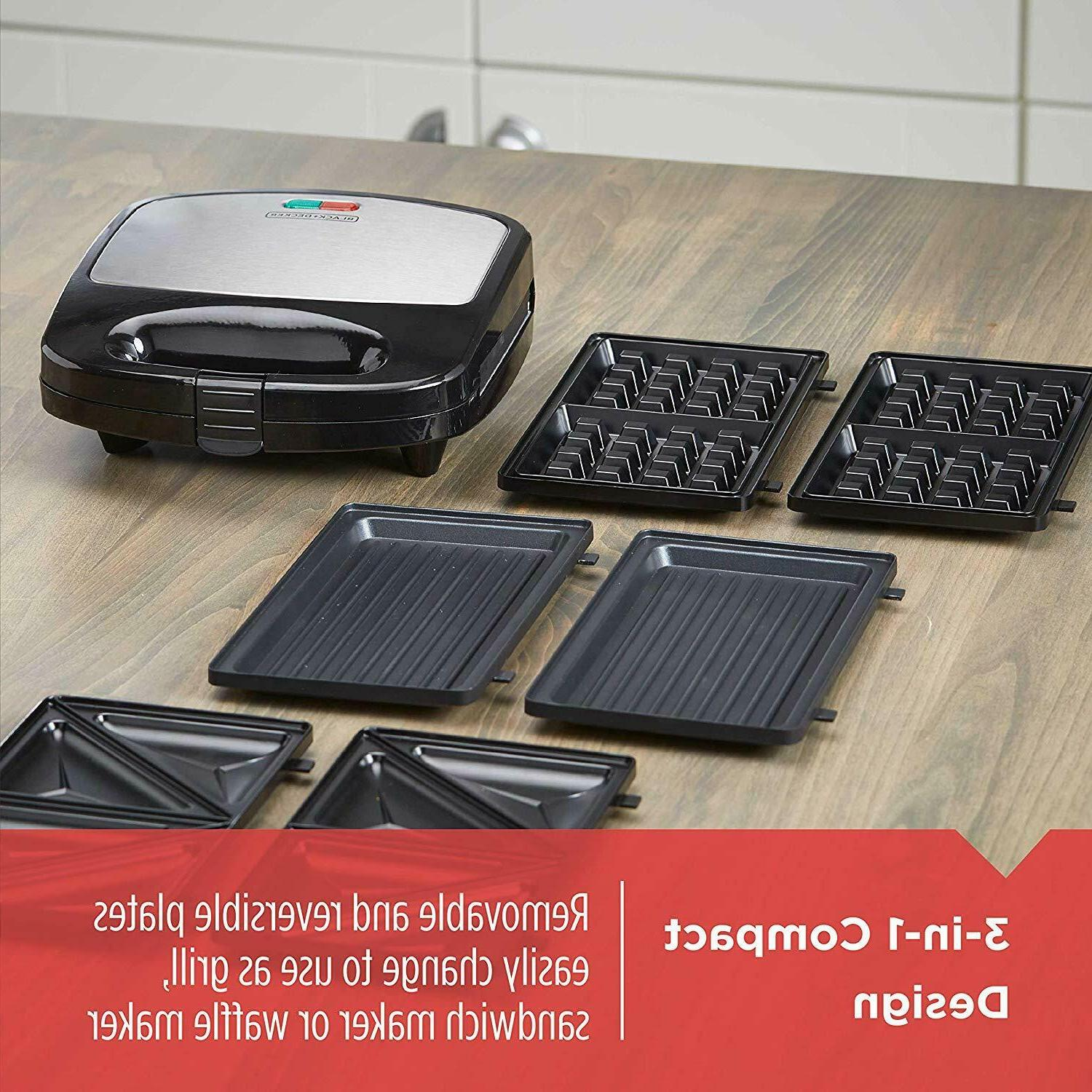 BLACK in 1 Meal Waffle Grill Maker