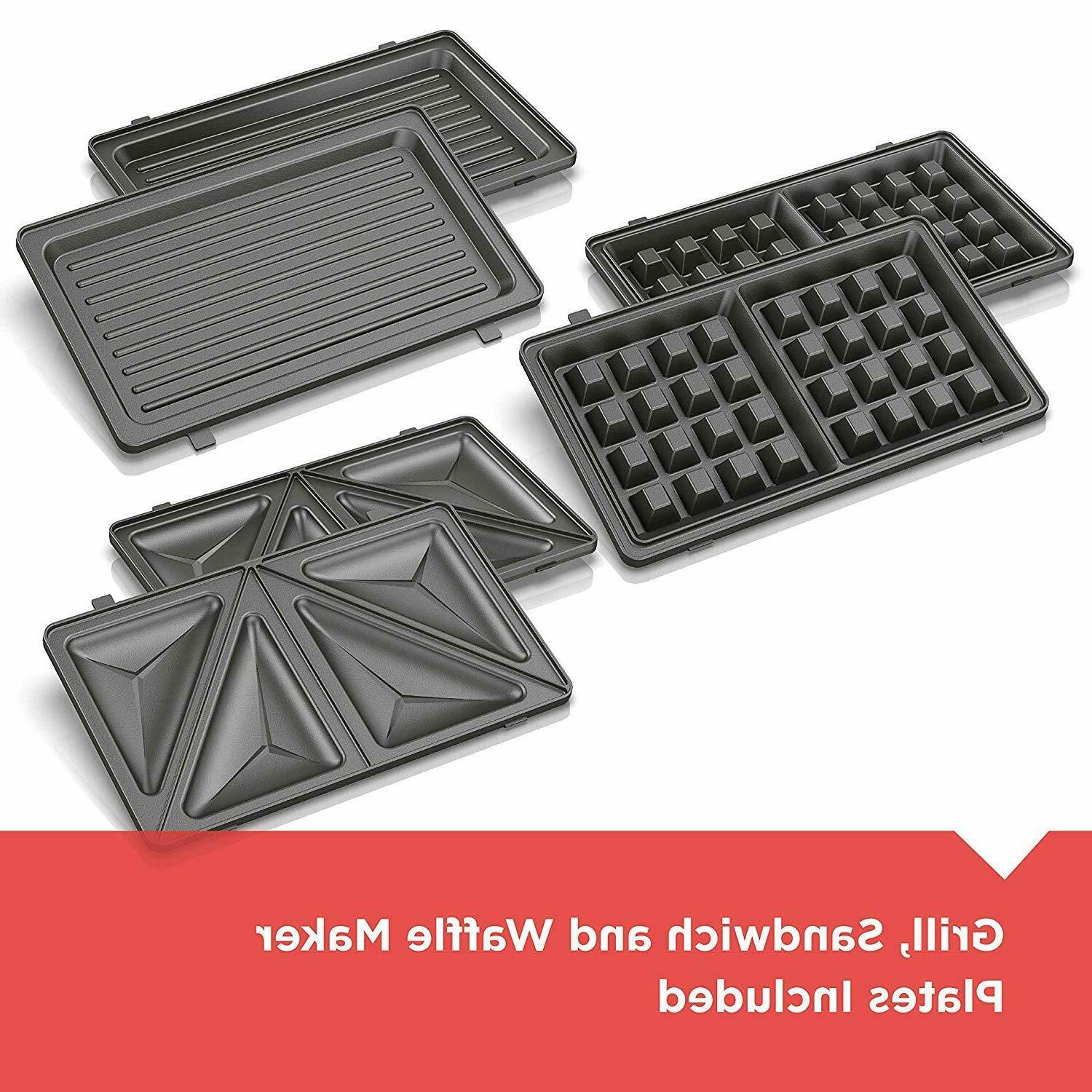 BLACK in 1 Meal Station Waffle Maker Non