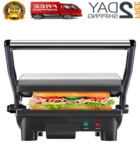 electric panini press grill and gourmet sandwich