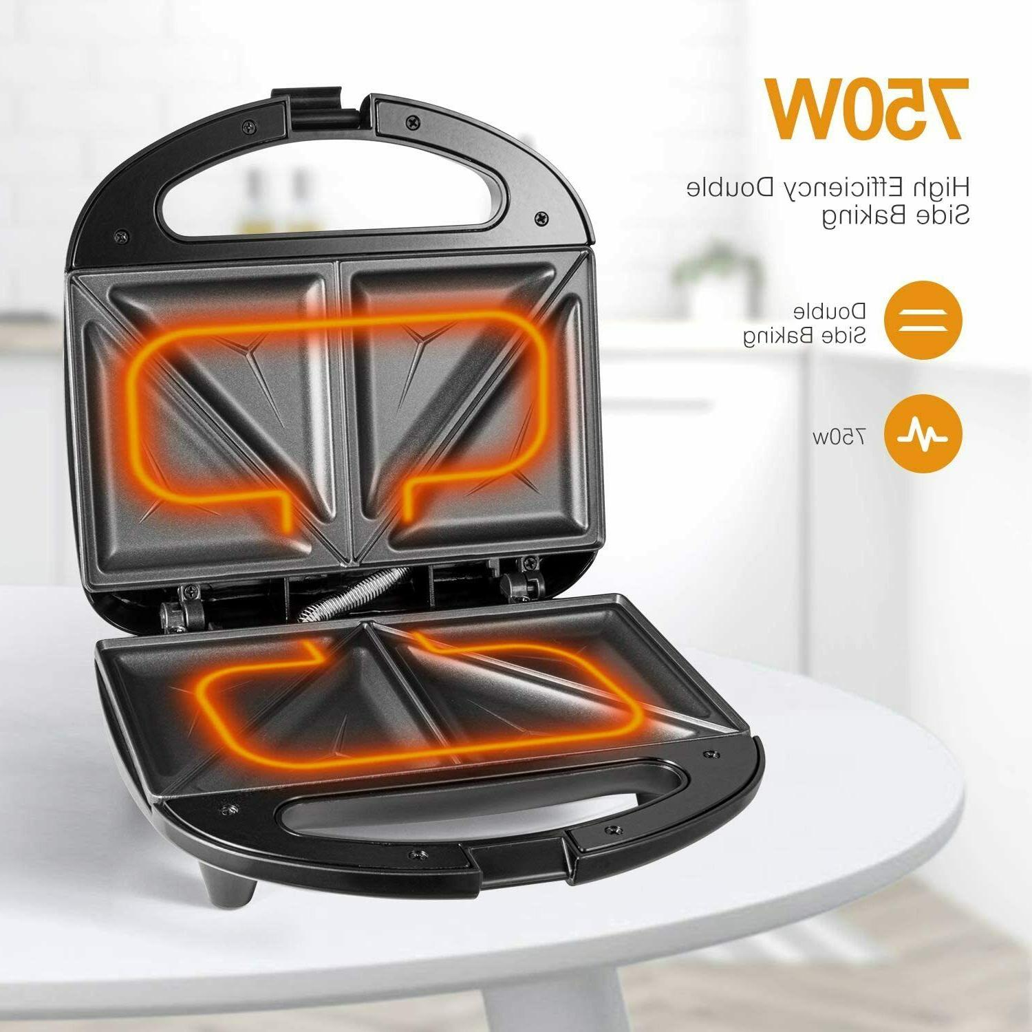 OSTBA Sandwich Toaster with Non-stick, LED