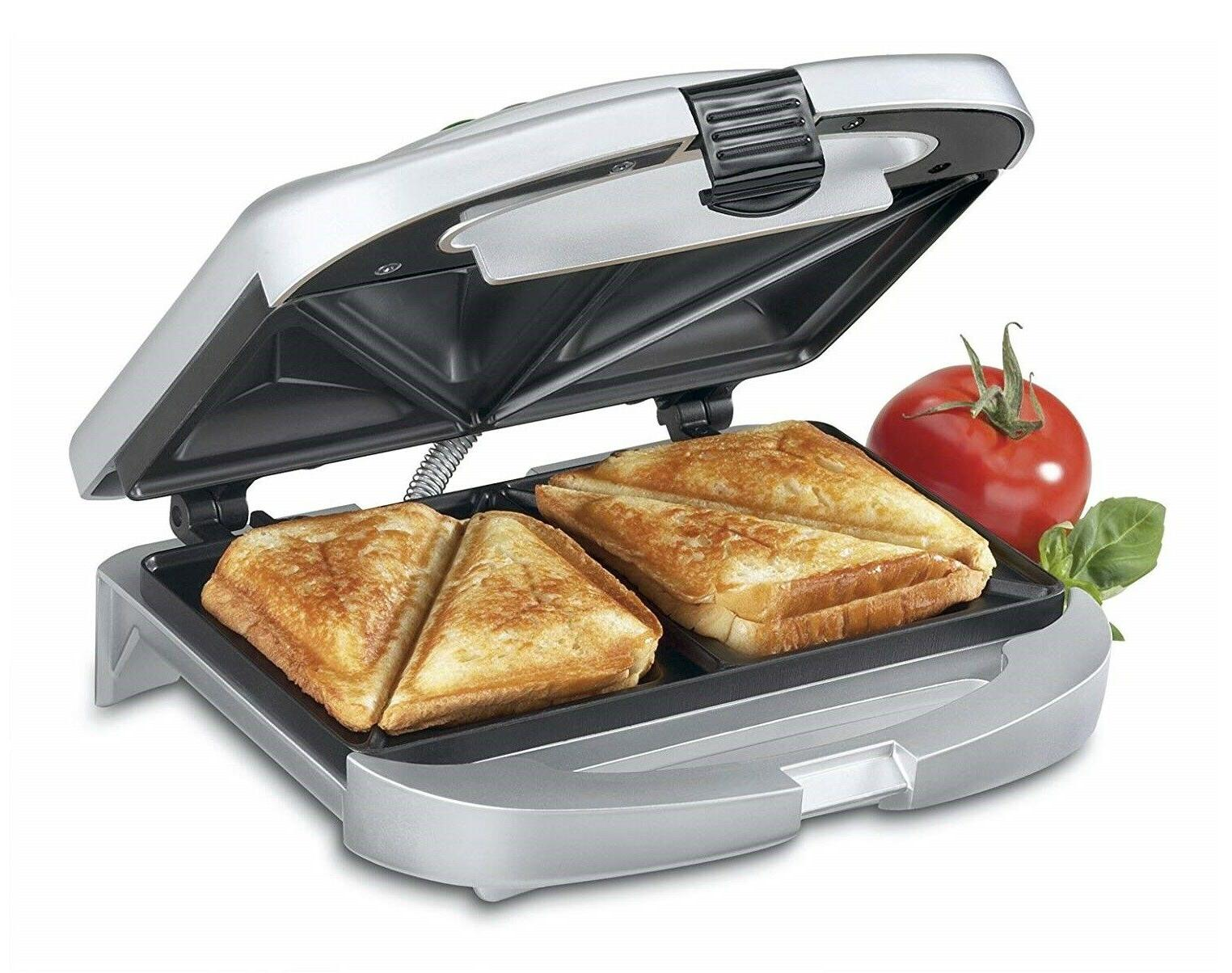 electric sandwich toaster dual grill non stick