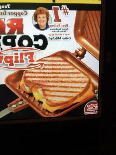 Red Stovetop Panini Sandwich - Seen On TV- Sealed