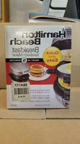 quick and easy breakfast sandwich maker silver
