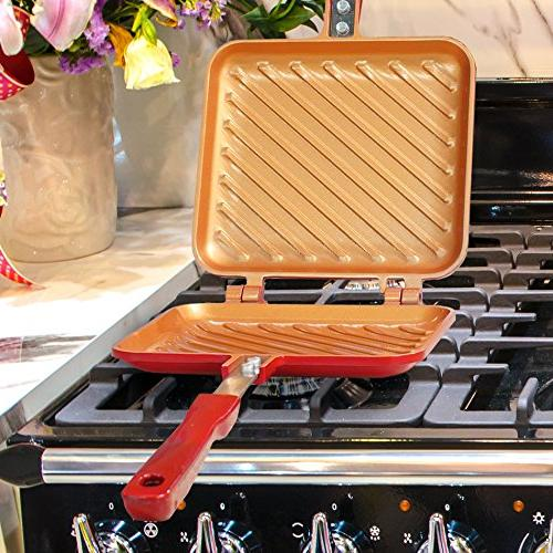 Red Copper Grilled Sandwich Maker by