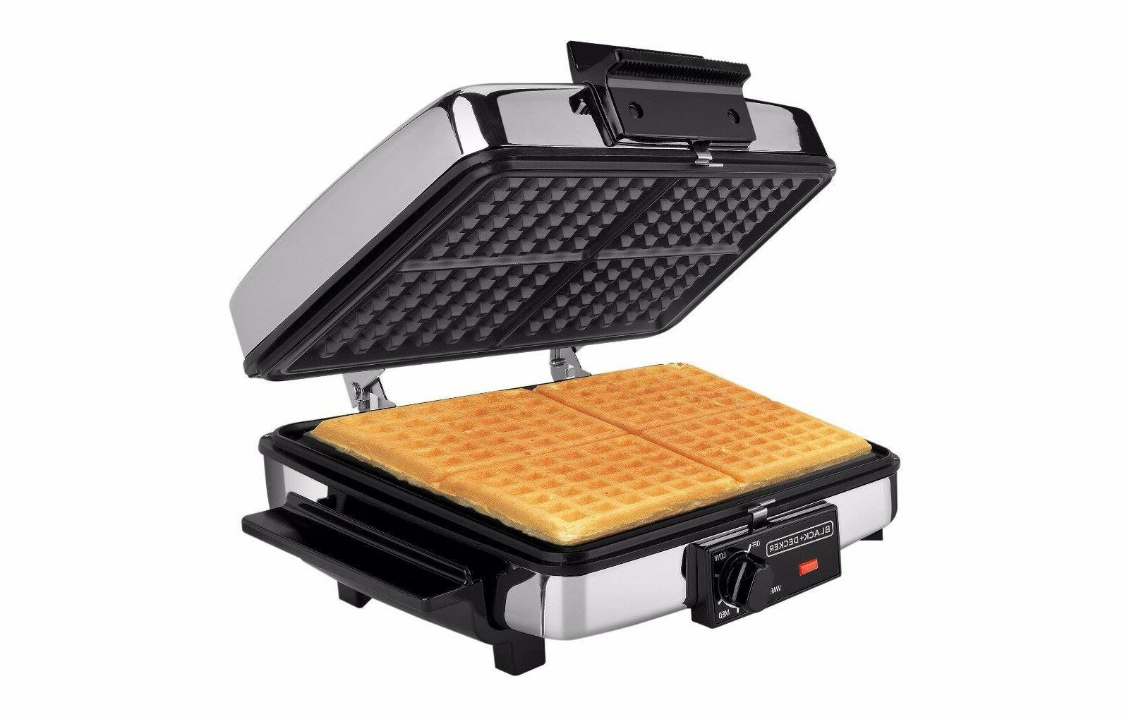 sandwich and waffle maker stainless steel 3