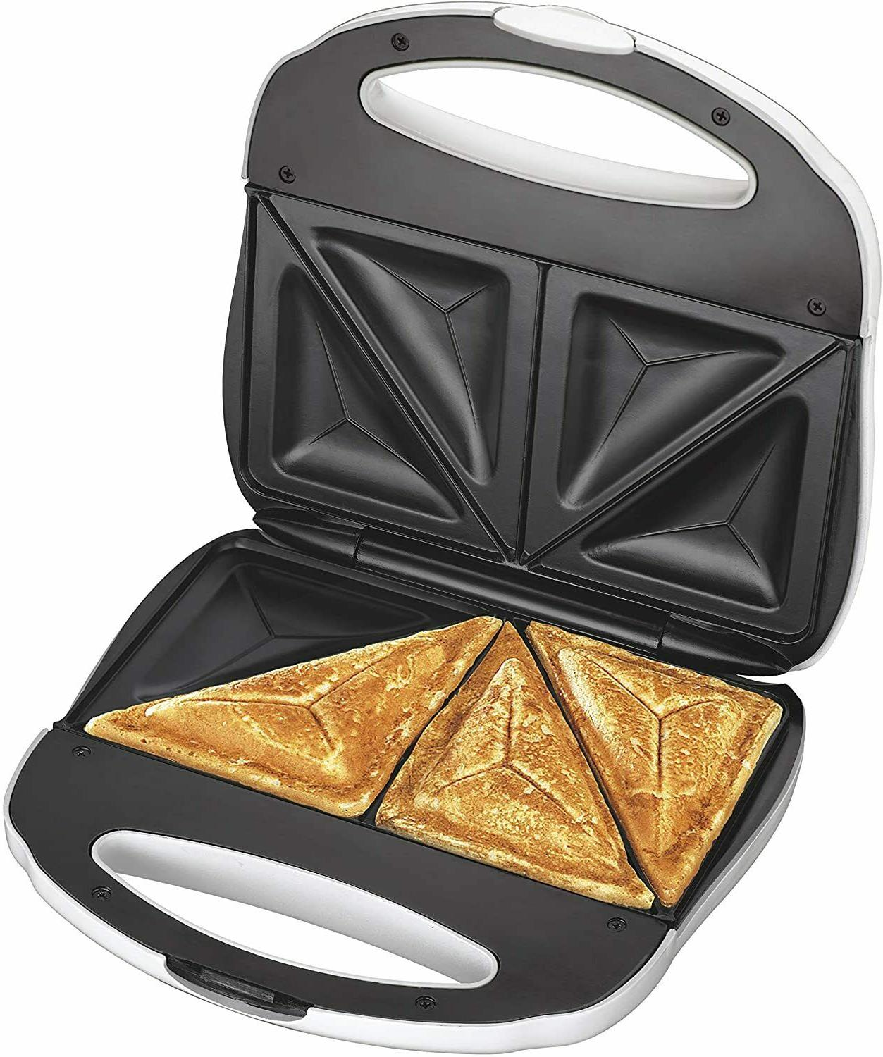 sandwich maker toaster easy clean nonstick plates