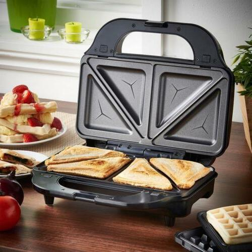 toastie sandwich and waffle maker non stick