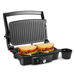 Panini Maker, iSiLER 4 Slice Panini Press Grill, Sandwich Ma