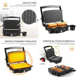 Panini Maker 4 Slice Press Grill Sandwich W 2 Removable Drip