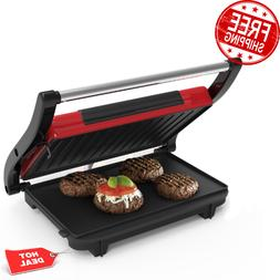 Panini Press Non Stick Grill Sandwich Maker Electric Gourmet