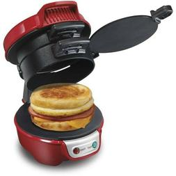 quick and easy breakfast sandwich maker red