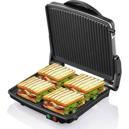 Sandwich Grill Panini Press Maker Pressing Toaster Stainless