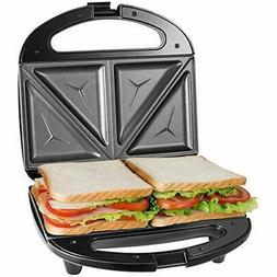 Sandwich Maker, Toaster and Electric Panini Press with Non-s