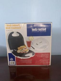 Better Chef White Panini Grill/Contact Grill IM-285W Brand N